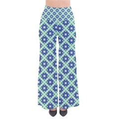 Crisscross Pastel Turquoise Blue Pants by BrightVibesDesign