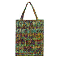Multicolored Digital Grunge Print Classic Tote Bag by dflcprints