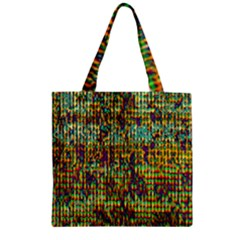 Multicolored Digital Grunge Print Zipper Grocery Tote Bag by dflcprints