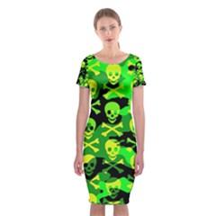 Skull Camouflage Classic Short Sleeve Midi Dress