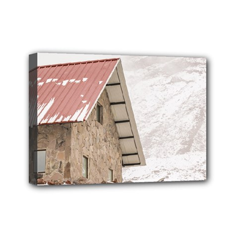 Shelter At Chimborazo Mountain In Ecuador Mini Canvas 7  X 5  by dflcprints
