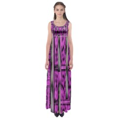 Purple Lace Landscape Abstract Shimmering Lovely In The Dark Empire Waist Maxi Dress by pepitasart