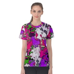 Ink shapes                                                                         Women s Cotton Tee by LalyLauraFLM