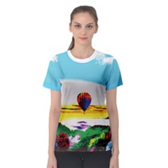 Morning Mountain Landspace Women s Sport Mesh Tee by gumacreative