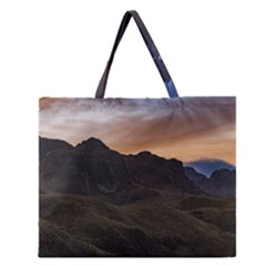 Sunset Scane At Cajas National Park In Cuenca Ecuador Zipper Large Tote Bag by dflcprints