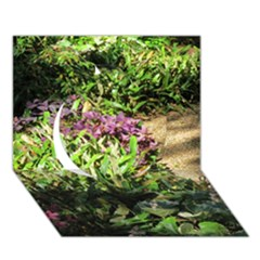Shadowed Ground Cover Circle 3d Greeting Card (7x5)  by ArtsFolly