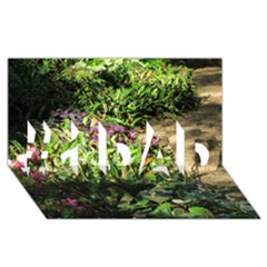 Shadowed Ground Cover #1 Dad 3d Greeting Card (8x4)  by ArtsFolly