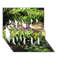 Shadowed Ground Cover Get Well 3d Greeting Card (7x5)  by ArtsFolly