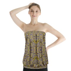 Bee Hive Strapless Top by MRTACPANS