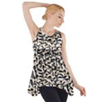 Charcoal Confetti Side Drop Tank Tunic
