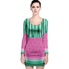Watermelon Long Sleeve Bodycon Dress by olgart