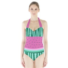 Watermelon Halter Swimsuit by olgart