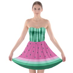 Watermelon Strapless Dresses by olgart