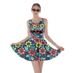 Tropical Flowers Skater Dress by olgart