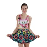 Tropical flowers Mini Skirt