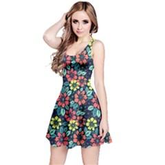 Tropical flowers Reversible Sleeveless Dress by olgart