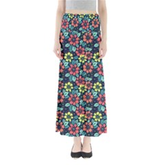 Tropical Flowers Maxi Skirts by olgart