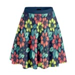 Tropical flowers High Waist Skirt