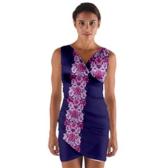 Floral Chic Wrap Front Bodycon Dress by olgart