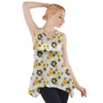 charcoal floral Side Drop Tank Tunic