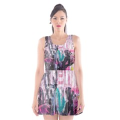 Graffiti Grunge Love Scoop Neck Skater Dress by ArtistRoseanneJones