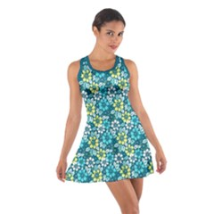 Tropical flowers Menthol color Racerback Dresses by olgart
