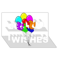Colorful Balloons Best Wish 3d Greeting Card (8x4)  by Valentinaart