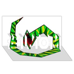 Decorative Snake #1 Mom 3d Greeting Cards (8x4)  by Valentinaart