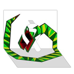 Decorative Snake Ribbon 3d Greeting Card (7x5)  by Valentinaart