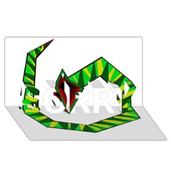 Decorative Snake Sorry 3d Greeting Card (8x4)  by Valentinaart