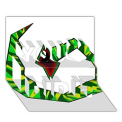 Decorative Snake You Did It 3d Greeting Card (7x5) by Valentinaart