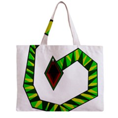 Decorative Snake Zipper Mini Tote Bag by Valentinaart