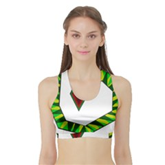 Decorative Snake Sports Bra With Border by Valentinaart