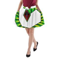 Decorative Snake A Line Pocket Skirt by Valentinaart