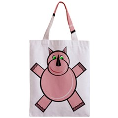 Pink Rhino Classic Tote Bag by Valentinaart