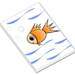 Cute Fish Large Memo Pads by Valentinaart