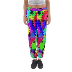 Colorful Shapes                                                                             Women s Jogger Sweatpants by LalyLauraFLM