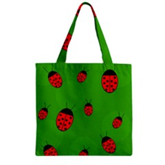 Ladybugs Zipper Grocery Tote Bag by Valentinaart