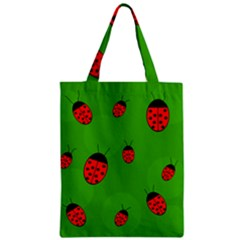 Ladybugs Zipper Classic Tote Bag by Valentinaart