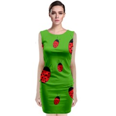 Ladybugs Classic Sleeveless Midi Dress by Valentinaart