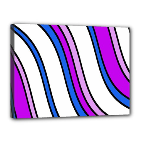 Purple Lines Canvas 16  X 12  by Valentinaart