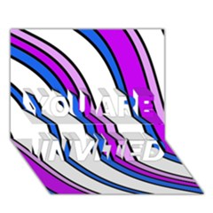 Purple Lines You Are Invited 3d Greeting Card (7x5)  by Valentinaart