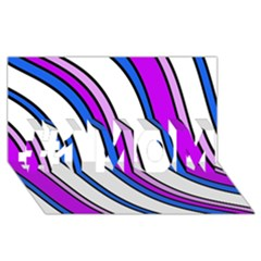 Purple Lines #1 Mom 3d Greeting Cards (8x4)  by Valentinaart