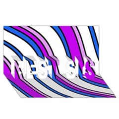 Purple Lines Best Sis 3d Greeting Card (8x4)  by Valentinaart