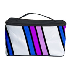 Purple Lines Cosmetic Storage Case by Valentinaart