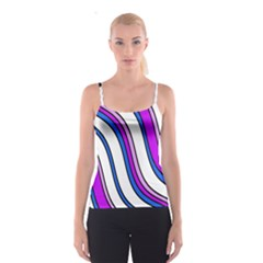 Purple Lines Spaghetti Strap Top by Valentinaart