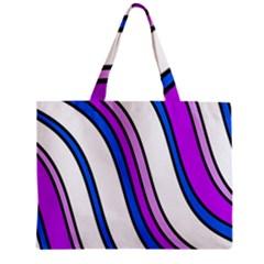 Purple Lines Zipper Mini Tote Bag by Valentinaart