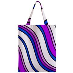 Purple Lines Zipper Classic Tote Bag by Valentinaart