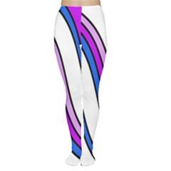 Purple Lines Women s Tights by Valentinaart