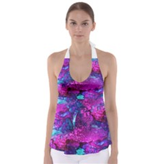 Melting In Purple Babydoll Tankini Top by KirstenStar